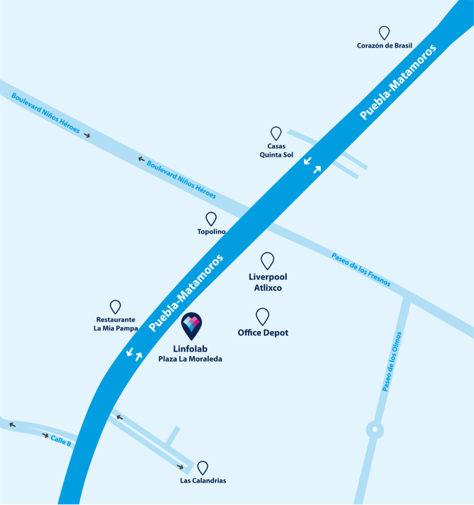 Linfolab Sucursal Atlixco Mapa