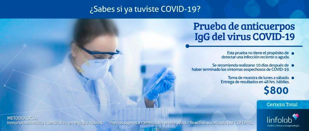 Anticuerpos IgG Covid-19 Linfolab