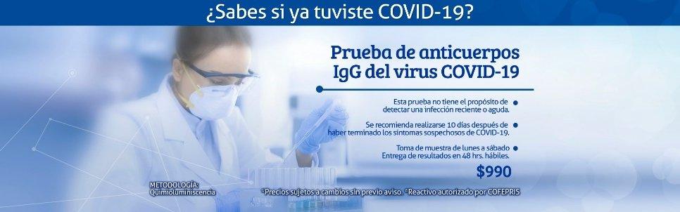 Prueba IgG Coronavirus