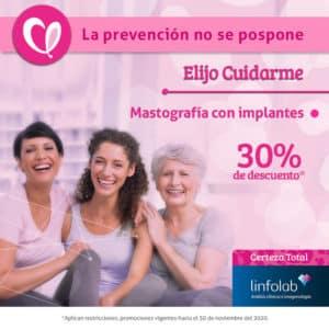 Mastografía con implantes Linfolab Tienda online