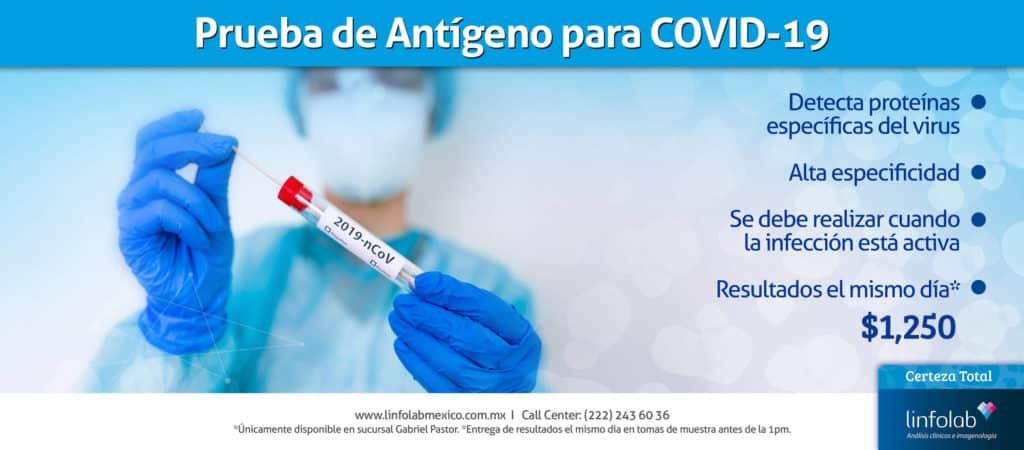 Prueba Covid-19 Antígeno Linfolab Puebla