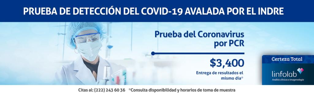 Prueba Covid-19 PCR Linfolab Puebla