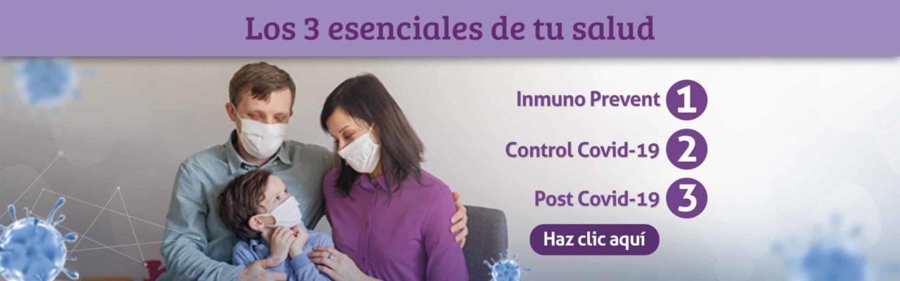 Covid-19 Los 3 esenciales de tu salud Linfolab