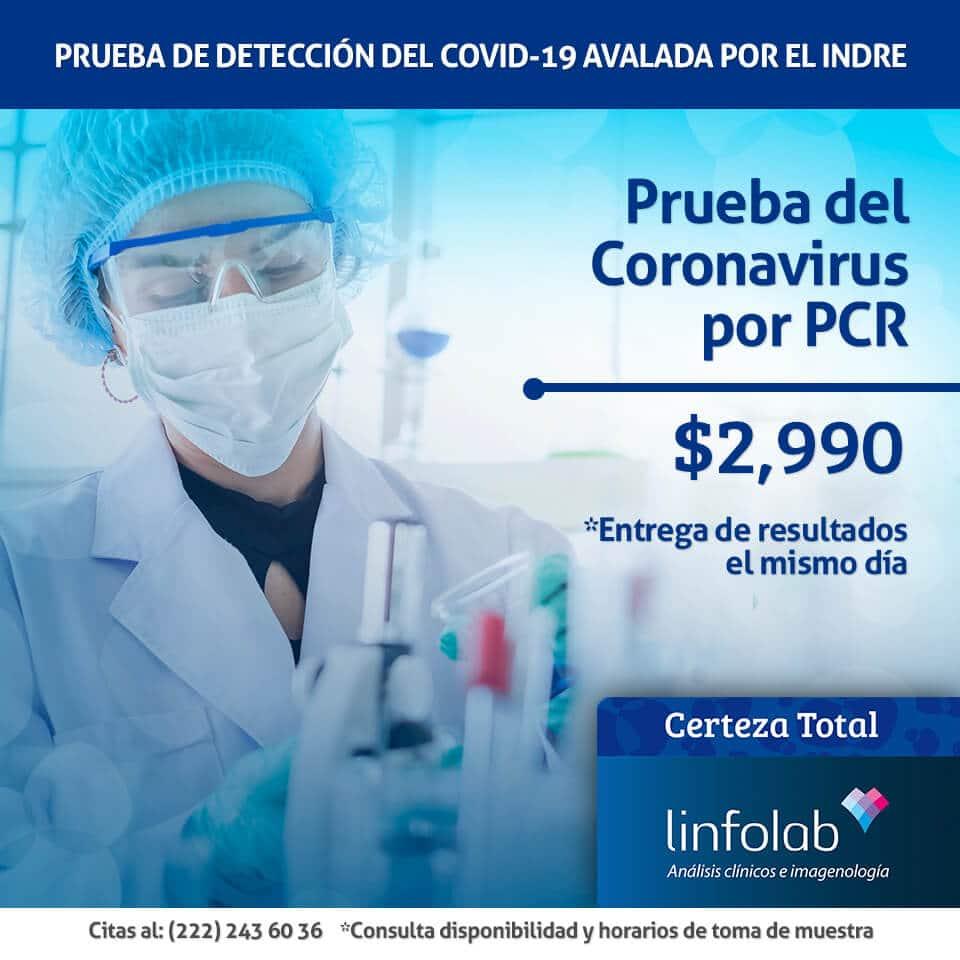 Covid-19 Prueba PCR Puebla Linfolab