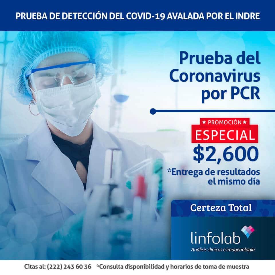 Prueba PCR Covid-19 en Puebla Linfolab