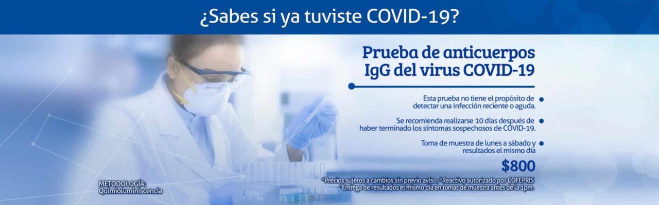Prueba Covid-19 Anticuerpos IgG Linfolab