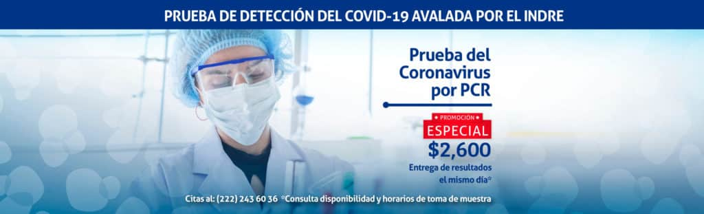 Prueba de Covid-19 PCR Puebla